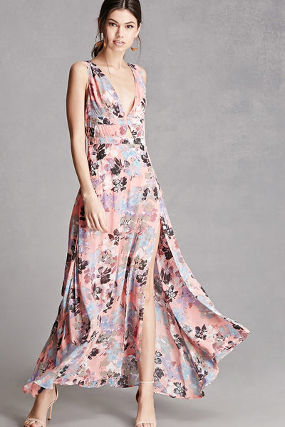 LAST CALL SIZE S | Pastel Floral Maxi Dress