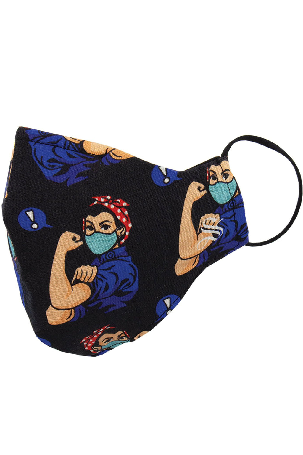 Rosie the Riveter Mask in Black