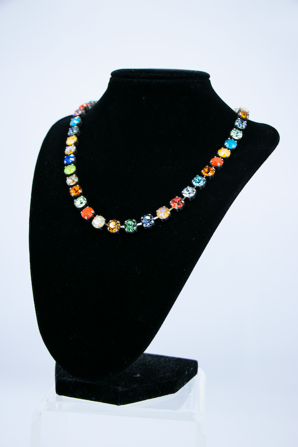 Swarovski Rainbow Crystal Necklace side