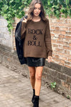 Rock & Roll Graphic Knit Sweater