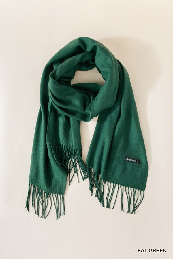 Cashmere Scarf in Teal Green