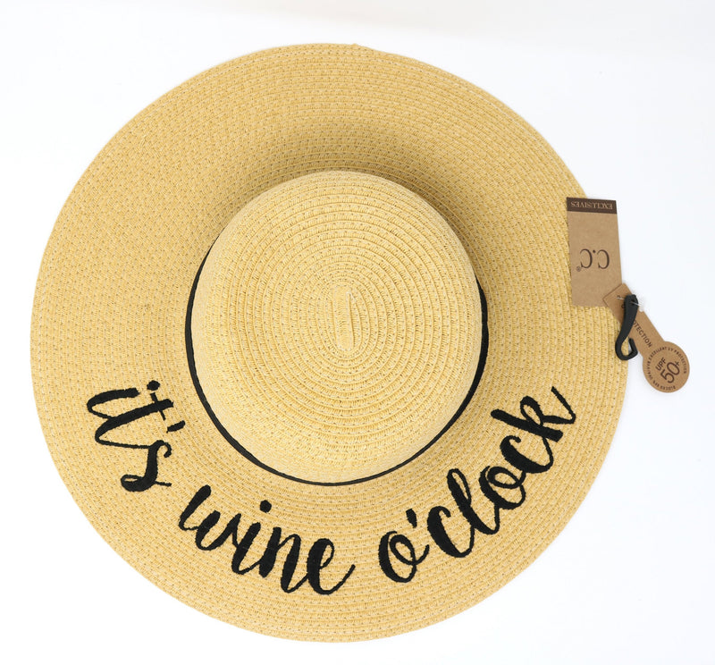 It's Wine O'Clock Sunhat