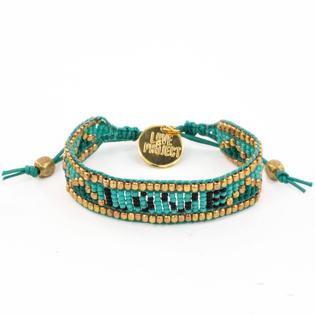 Love Bracelet in Turquoise & Gold