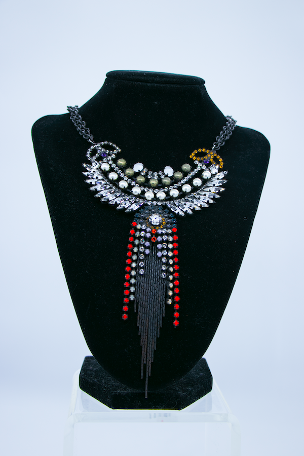 Statement Crystal Pendant Necklace