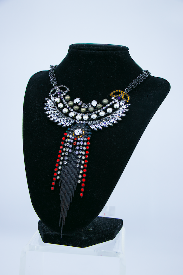 Statement Crystal Pendant Necklace side
