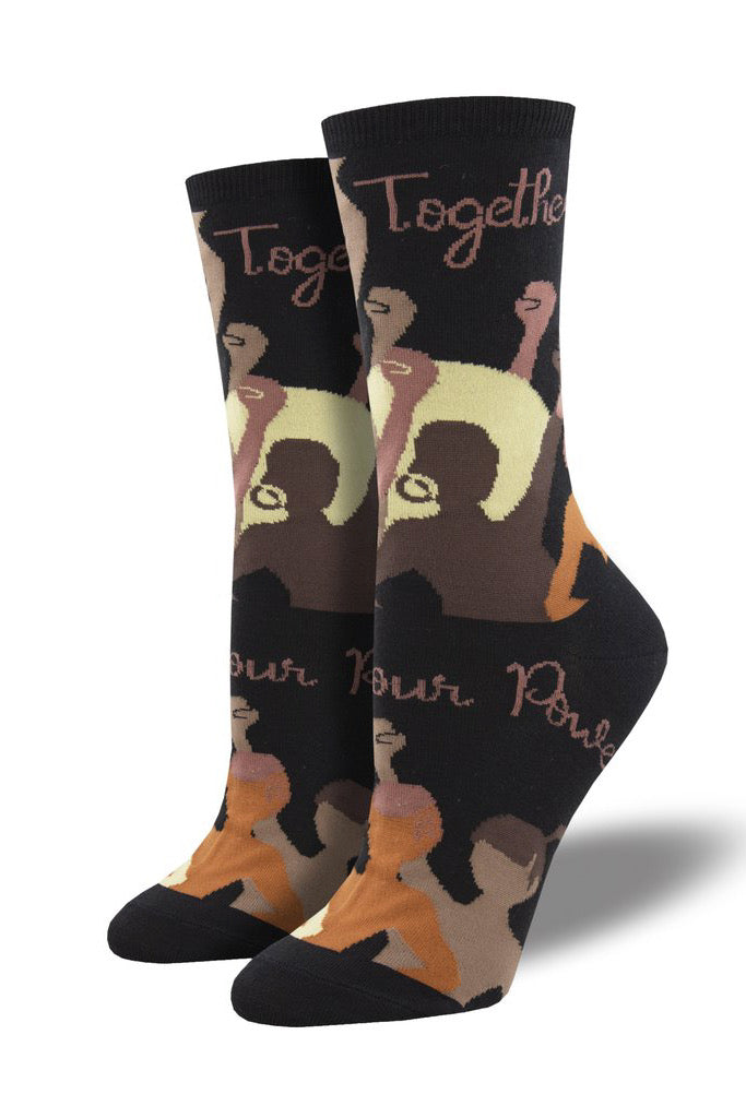 """Know Your Power"" Socks in Black"