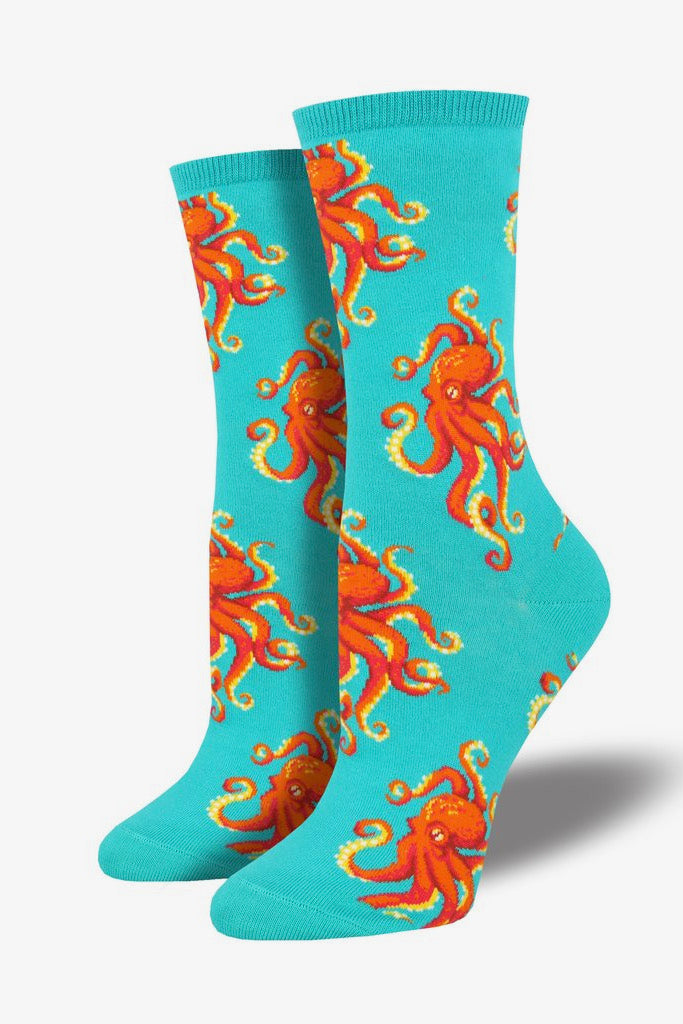 """Socktopus"" Socks in Teal"