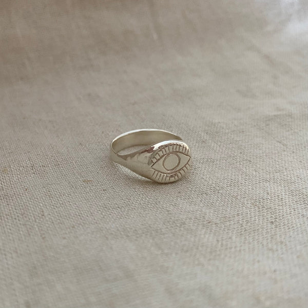 The Evil Eye Signet - Sterling Silver