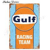 Metal signs - Gas stations GULF / 20x30 cm