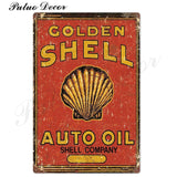 Metal signs - Gas stations SHELL 4 / 20x30 cm