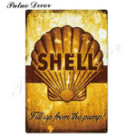 Metal signs - Gas stations SHELL 6 / 20x30 cm