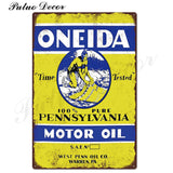 Metal signs - Gas stations ONEIDA / 20x30 cm