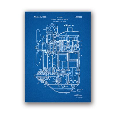 Internal combustion engine wall art