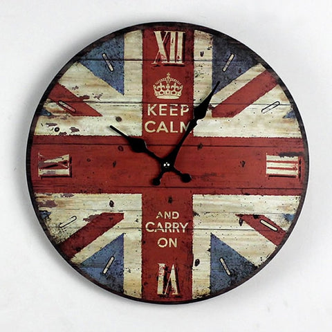 British Flag Retro Wall Clock