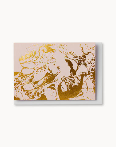 Blush Marble Notecard