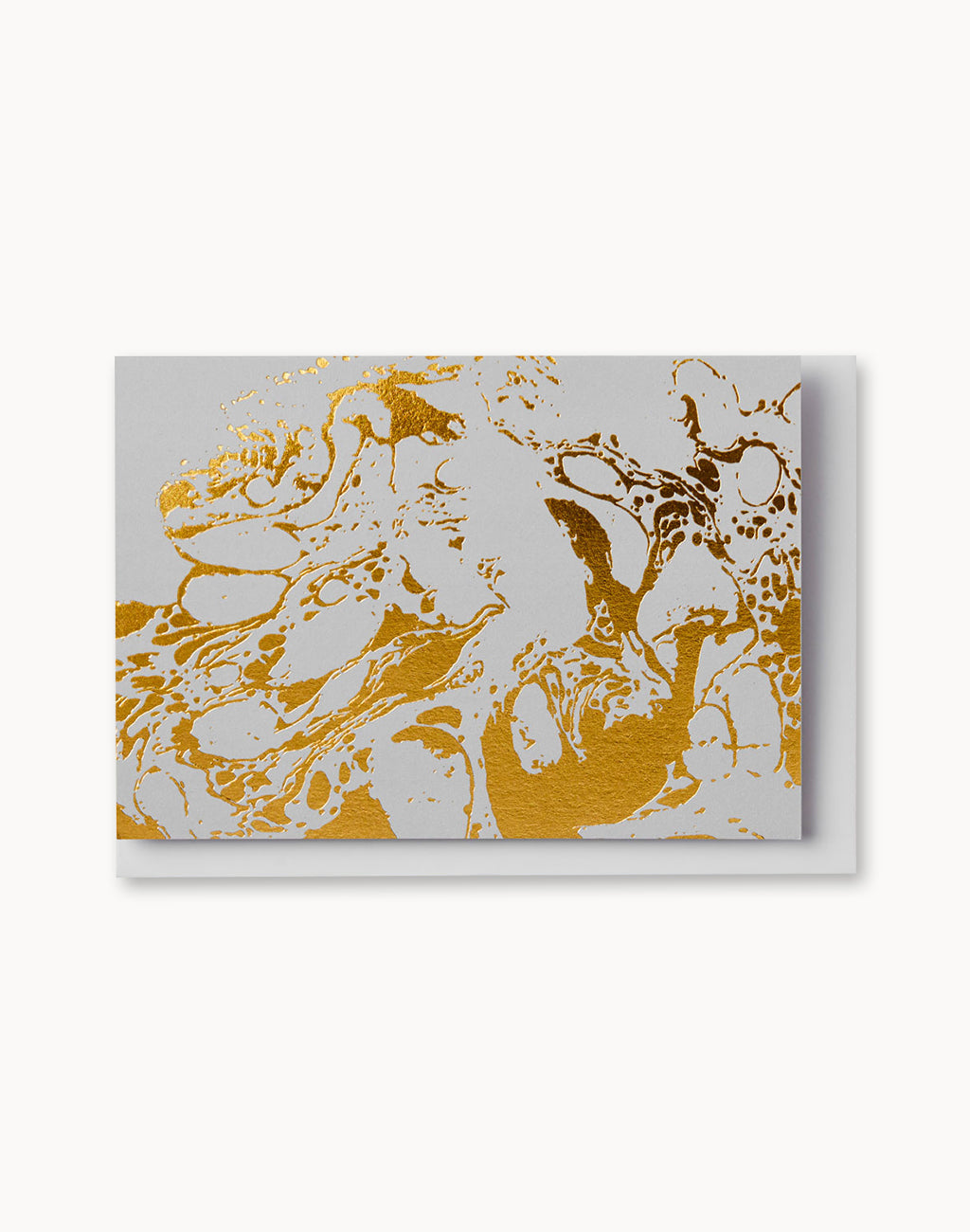 Grey Marble Notecard