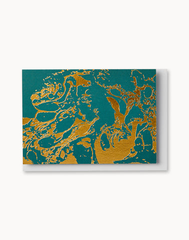 Teal Marble Notecard