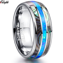 Load image into Gallery viewer, Luxury Silver Tungsten Carbide Ring