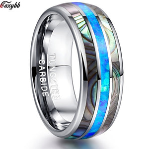 Luxury Silver Tungsten Carbide Ring