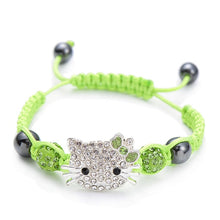 Load image into Gallery viewer, Handmade Cute Silver Cat Bracelet