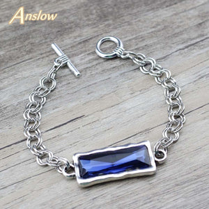 Crystal Zinc Alloy Metal Chain  Bracelets