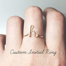 Load image into Gallery viewer, Unisex Gold Silver Color A-Z 26 Letters Initial Name Rings