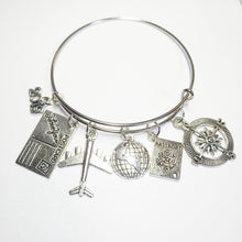 Load image into Gallery viewer, Earth Plane Postcard Alloy Bracelet
