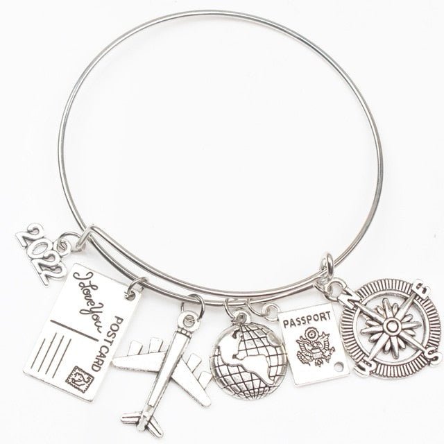 Earth Plane Postcard Alloy Bracelet