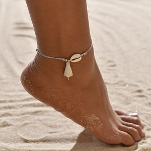 Double Layers Anklets On Foot Ankle Bracelets