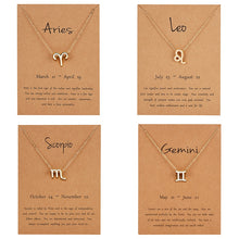 Load image into Gallery viewer, Zodiac Sign Charm Necklace