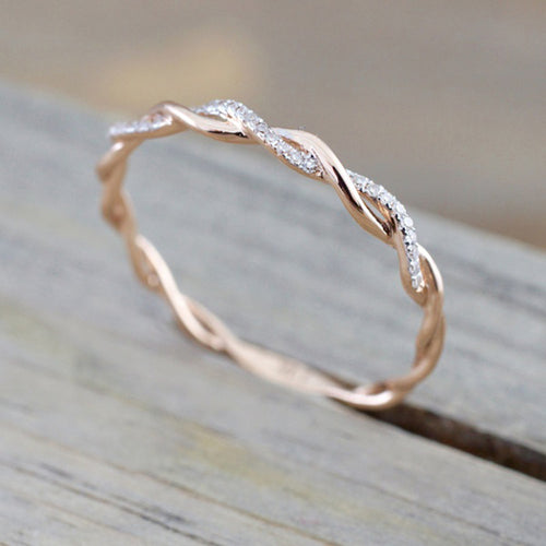 Girl Twisted Shape Ring