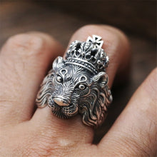 Load image into Gallery viewer, Adjustable Gold Silver Ferocious Animal Retro Rings