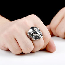 Load image into Gallery viewer, Star Wars The Mandalorian Helmet Ring