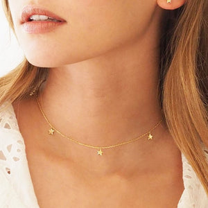 Crescent Moon Star Choker Necklaces