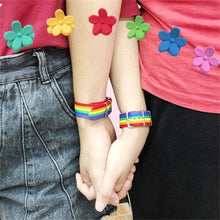 Load image into Gallery viewer, Nepal Rainbow Lesbian LGBT Bracelets
