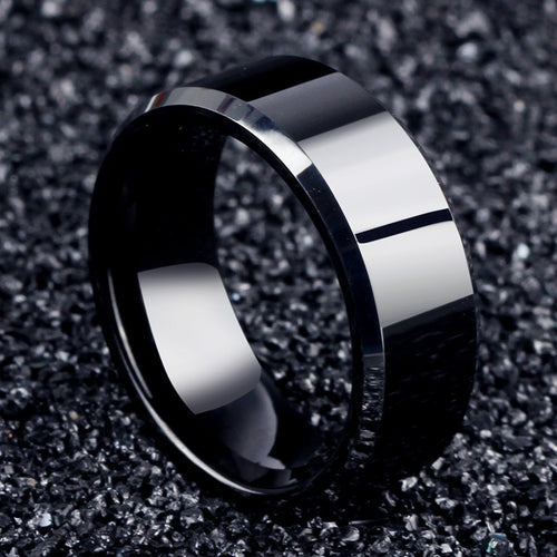 Stainless steel Black Rings