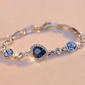 Ocean Blue Crystal Rhinestone fine jewelry New