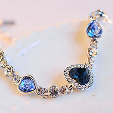 Load image into Gallery viewer, Ocean Blue Crystal Rhinestone fine jewelry New