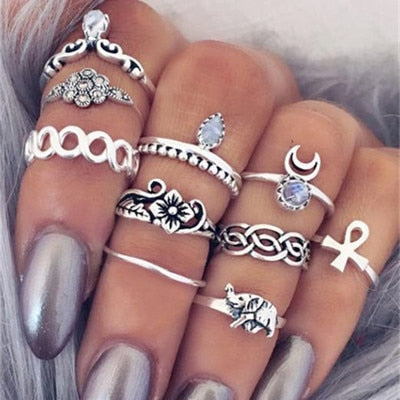 4-11 pcs/Set Bohemian ring set