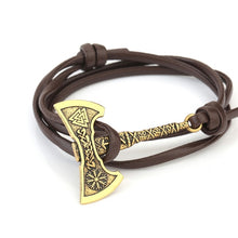 Load image into Gallery viewer, Teamer Men's Jewelry Axe Wrap Viking Bracelet