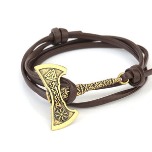 Teamer Men's Jewelry Axe Wrap Viking Bracelet