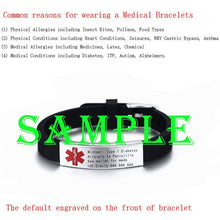 Load image into Gallery viewer, Engravable Medical Alert ID Bracelet