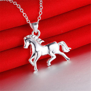 Pure Silver Horse Necklaces