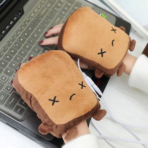 1 Pair USB Hand Warmer Heated Gloves