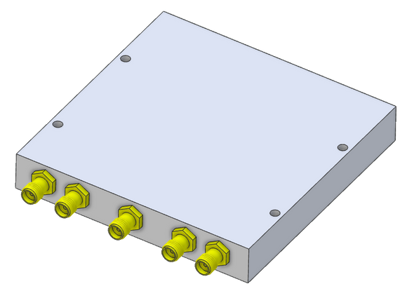 D-4967 Wideband Power Divider 4-way SMA Female from 0.5 to 6 GHz