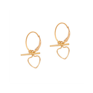 Heart & Bar Hoops