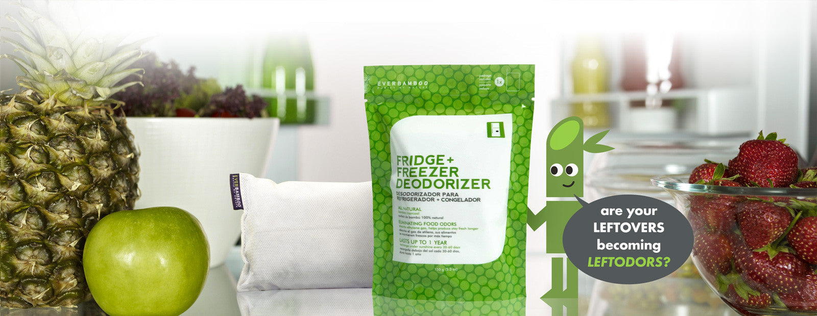 Ever Bamboo Fridge + Freezer Deodorizer