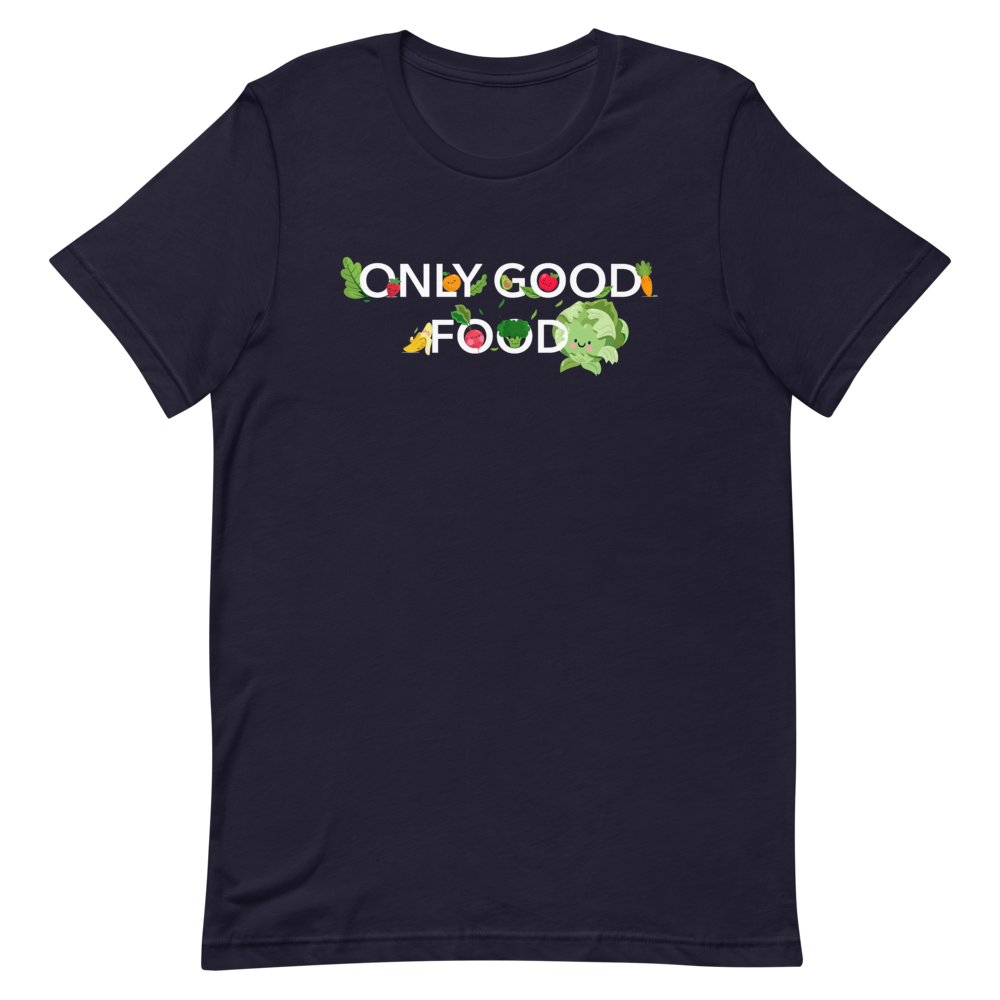 "Laden Sie das Bild in den Galerie-Viewer, T-Shirt ""Only good food"" - Heavyfit"