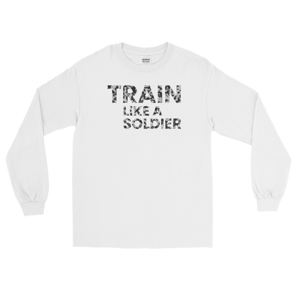 "Langarmshirt ""Train like a soldier"" - Heavyfit"