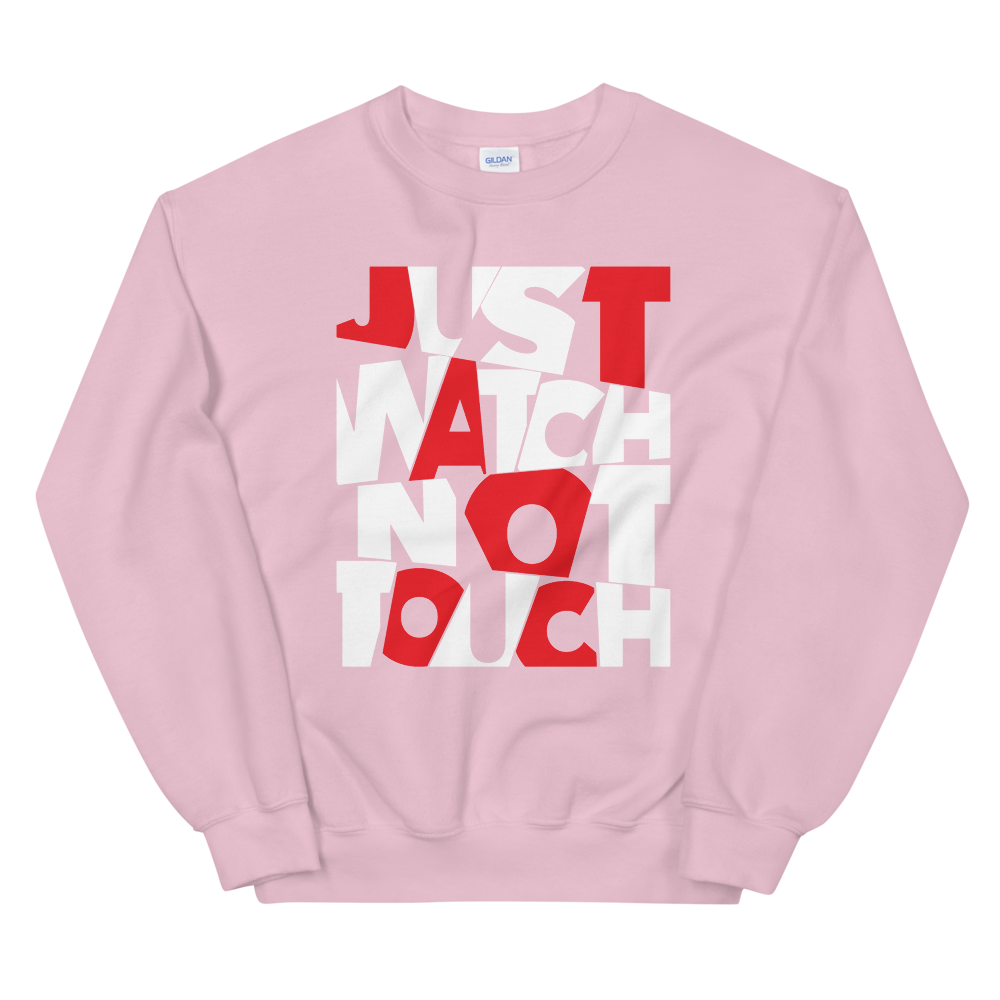 "Pullover ""Just watch not touch"" - Heavyfit"